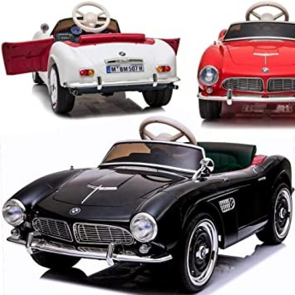 Ηλεκτροκίνητο Παιδικό Αυτοκίνητο Licensed BMW 507 Classic Vintage 12V Μαύρο 7083690