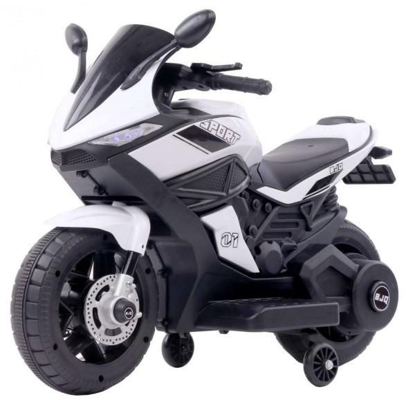 Ηλεκτροκίνητη Μηχανή 6V Motor Sport Λευκό 3970011
