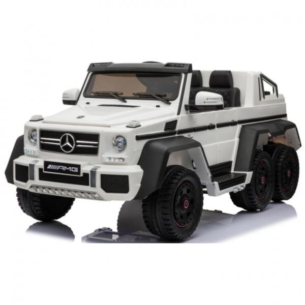 Ηλεκτροκίνητο Παιδικό Αυτοκίνητο Licensed Mercedes Benz 6 wheels G63 6X6 12V σε Λευκό X1888W