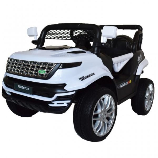 Ηλεκτροκίνητο Παιδικό Αυτοκίνητο Τύπου Land Rover 12V σε Λευκό 74528W